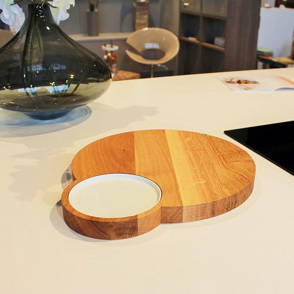 Holzbrettchen Rund brettchen melli mit design porzellan