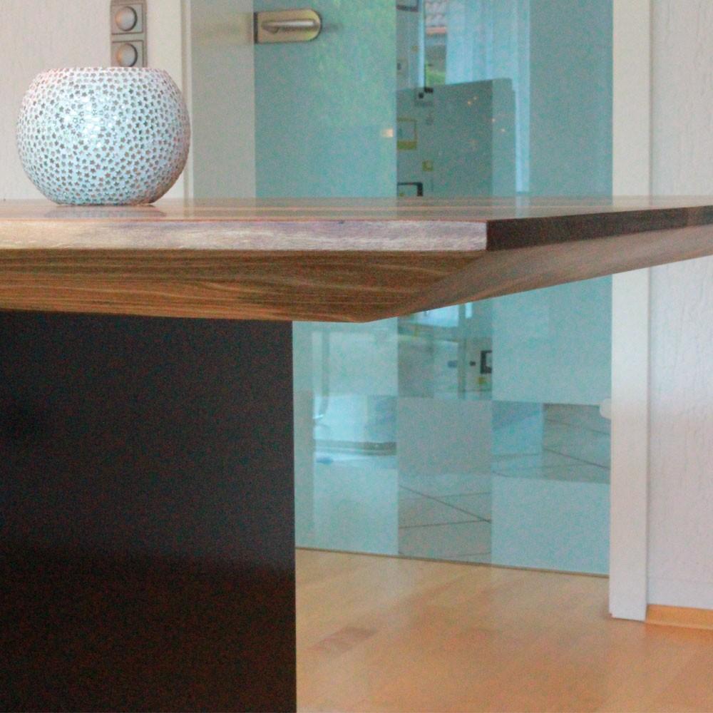 esstisch stahl holz awesome esstisch zebrano holz stahl. Black Bedroom Furniture Sets. Home Design Ideas