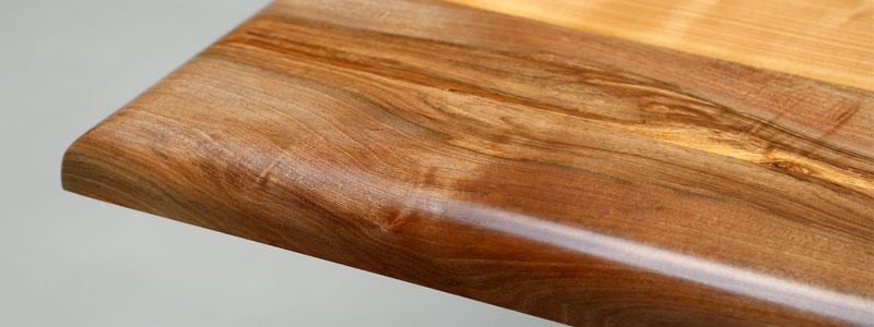 Tischplatte Massivholz Kante Mira