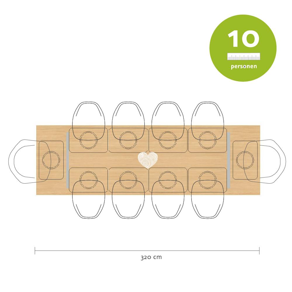 Tischmaße Esstisch für 10 Personen