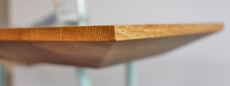 Tischkante Schweizer-Kante Grad Eiche