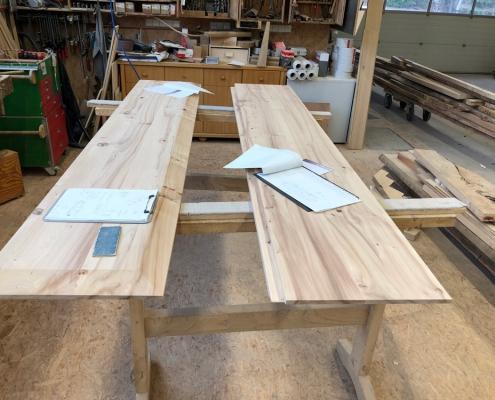 Tischplatte Rüster