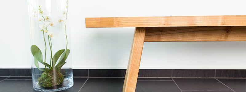 Sitzbank nach Maß Kirschbaum