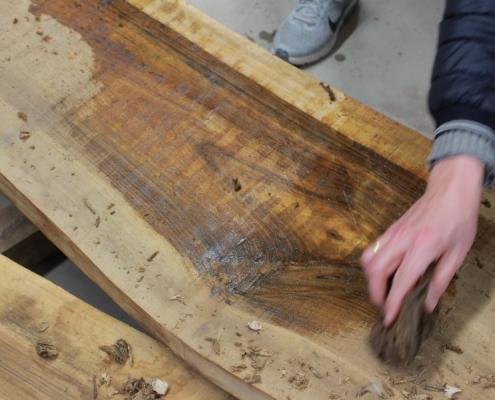 Holzauswahl Nussbaum