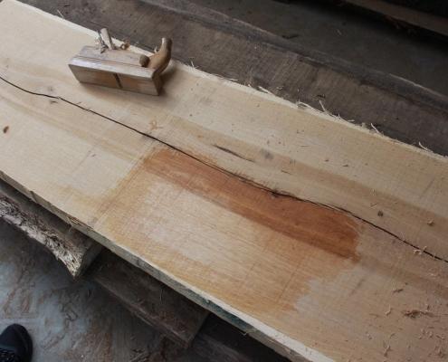 Holz geschliffen