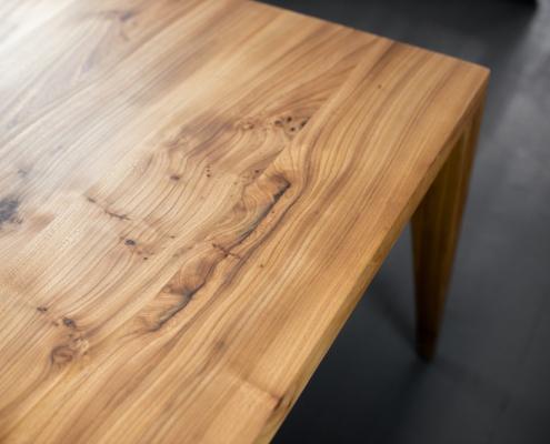 Esstisch Tischplatte Massivholz Rüster Ulme